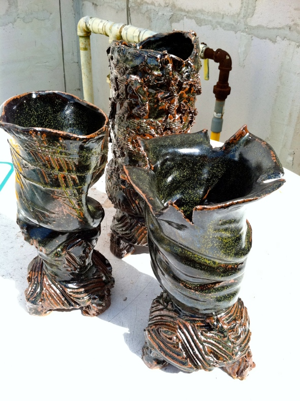 Three Tornadic Vases